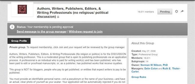 LinkedIn Group Membership approval