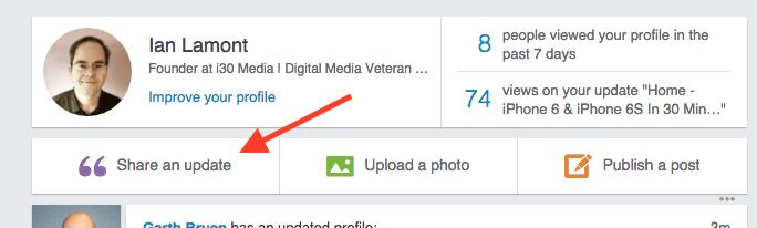 What is a LinkedIn Update - and how to create your own